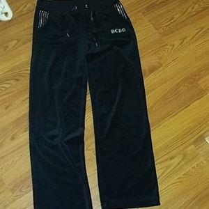 BCBG velour pants size S